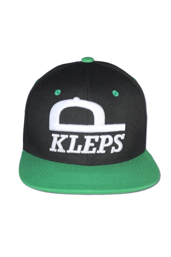 KLEPS Originals Green Snapback Cap Front