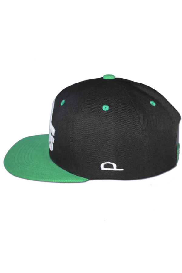 KLEPS Originals Green Snapback Cap Side Left