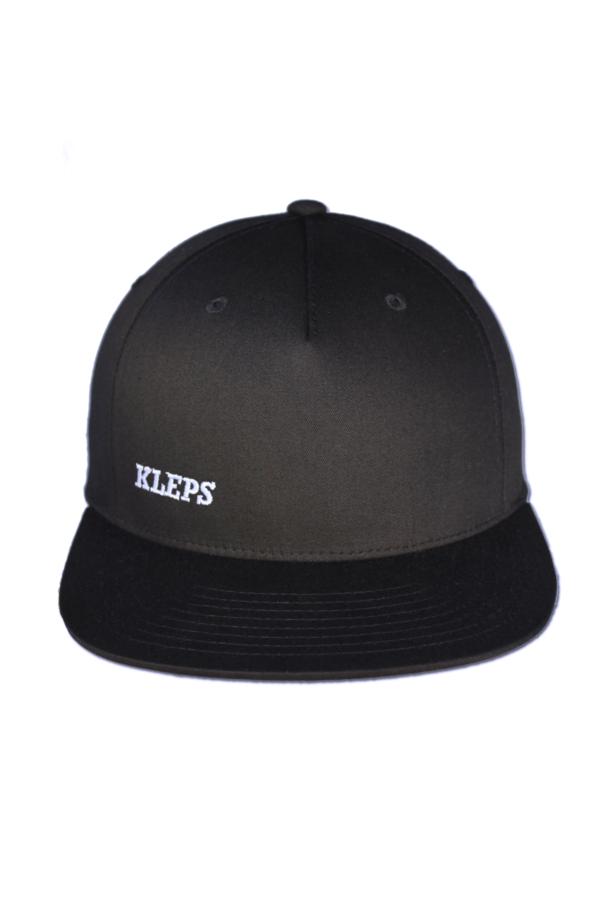KLEPS Pinch Black Snapback Cap Front