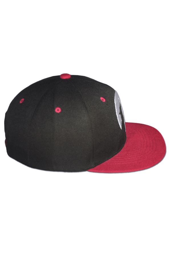 KLEPS Wolfpack Red Snapback Cap Side Right
